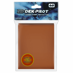 Dek Prot Standard Sized Card Sleeves - Mocha Brown (60 Card Sleeves)