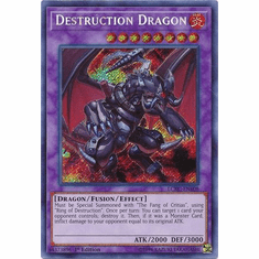 Destruction Dragon LCKC-EN108 Secret Rare - Legendary Collection Kaiba