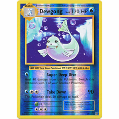 Dewgong 29/108 Rare - Reverse Pokemon XY Evolutions Single Card