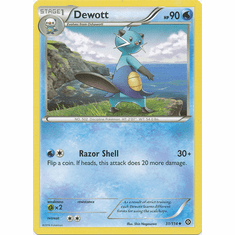 Dewott 31/114 Uncommon - Pokemon XY Steam Siege Card