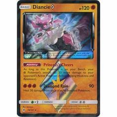 Diancie�Prism Star 74/131 Holo Rare - Pokemon Sun & Moon Forbidden Light Card