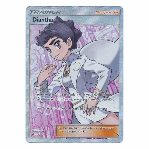 Diantha 130/131 Full Art - Pokemon Sun & Moon Forbidden Light Card