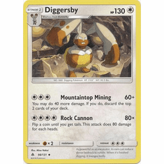 Diggersby 98/131 Uncommon - Pokemon Sun & Moon Forbidden Light Card