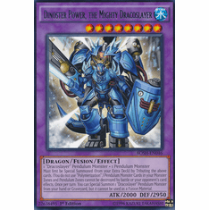 Dinoster Power, the Mighty Dracoslayer BOSH-EN046 - YuGiOh Breakers of Shadow Rare Card