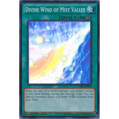 Divine Wind of Mist Valley THSF-EN056  - YuGiOh The Secret Forces Super Rare Card