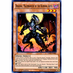 Draghig, Malebranche of the Burning Abyss CROS-EN082 Super Rare - YuGiOh Crossed Souls Card