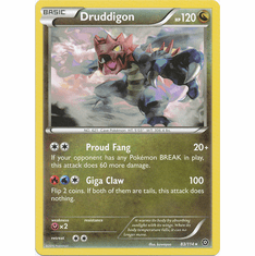 Druddigon 83/114 Rare - Pokemon XY Steam Siege Card