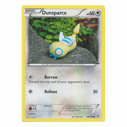 Dunsparce 68/108 Common - Pokemon XY Roaring Skies Card
