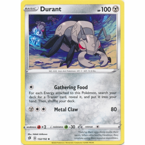 Durant - 132/192 Pokemon » SWSH Rebel Clash Uncommon