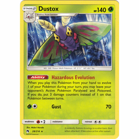 Dustox - 28/214 Pokemon » SM Lost Thunder Rare
