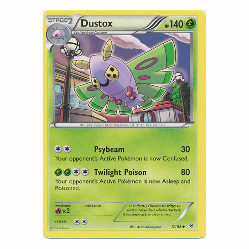 Dustox 7/108 Uncommon - Pokemon XY Roaring Skies Card