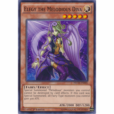 Elegy the Melodious Diva NECH-EN006 - Common The New Challengers Card