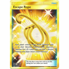 Escape Rope 163/147 Secret Rare - Pokemon Sun & Moon Burning Shadows Card