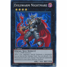 Evilswarm Nightmare HA07-EN023 - YuGiOh Knight Of Stars Secret Rare Card