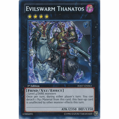 Evilswarm Thanatos HA07-EN063 - YuGiOh Knight Of Stars Secret Rare Card