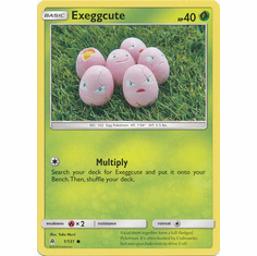 Exeggcute 1/131 Common - Pokemon Sun & Moon Forbidden Light Card