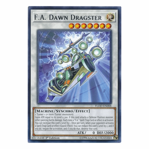 F.A. Dawn Dragster FLOD-EN088 - Rare - YuGiOh Flames of Destruction