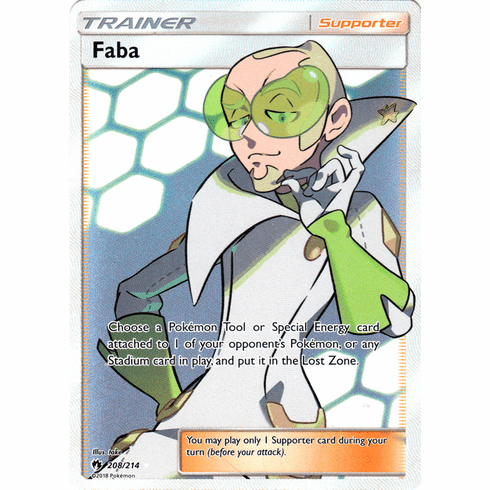 Faba - 208/214 - Sun & Moon: Lost Thunder Full Art Ultra Rare