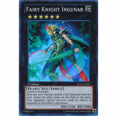 Fairy Knight Ingunar LVAL-EN055 - YuGiOh Legacy Of The Valiant Super Rare Card