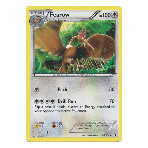 Fearow 66/108 Uncommon - Pokemon XY Roaring Skies Card