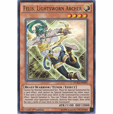 Felis, Lightsworn Archer DUEA-EN095 - ULTRA RARE Duelist Alliance Card