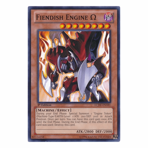 Fiendish Engine Omega LCJW-EN181 - YuGiOh Joey's World Common Card