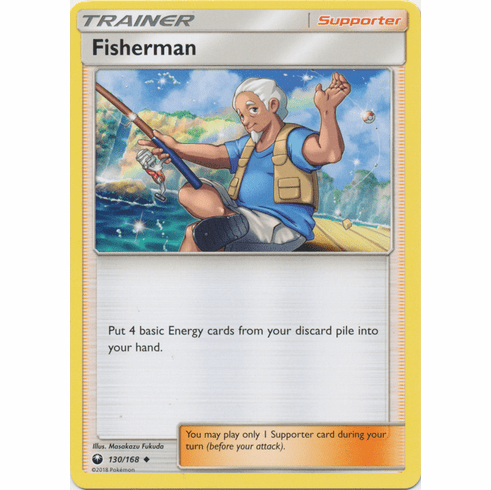 Fisherman 130/168 Uncommon - Celestial Storm SM7 Pokemon Card