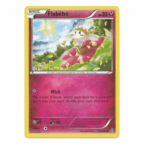 Flabébé 101/162 Common - Pokemon XY Break Through Card