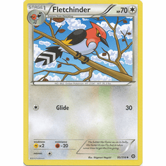 Fletchinder 95/114 Uncommon - Pokemon XY Steam Siege Card