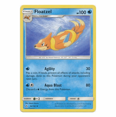 Floatzel 36/156 Uncommon - Pokemon Ultra Prism