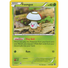 Foongus 12/114 Common - Pokemon XY Steam Siege Card