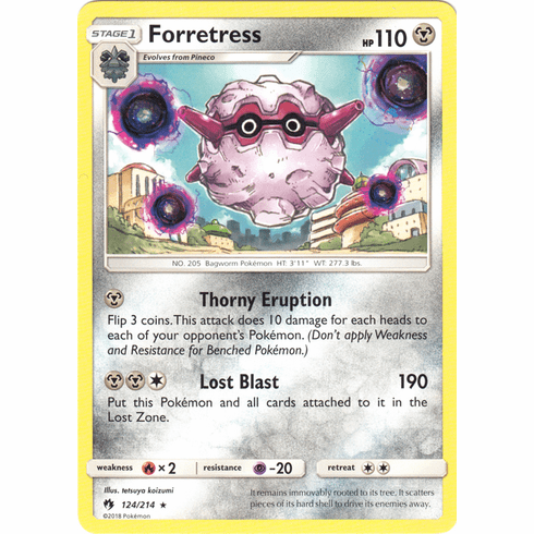 Forretress - 124/214 Pokemon » SM Lost Thunder Rare
