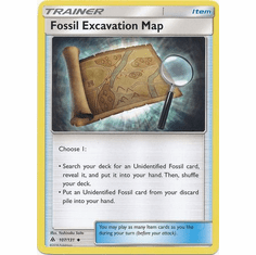 Fossil Excavation Map 107/131 Uncommon - Pokemon Sun & Moon Forbidden Light Card