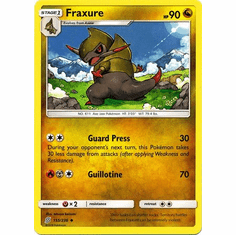 Fraxure - 155/236 - Uncommon Sun & Moon: Unified Minds