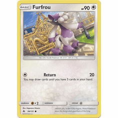 Furfrou 99/131 Common - Pokemon Sun & Moon Forbidden Light Card