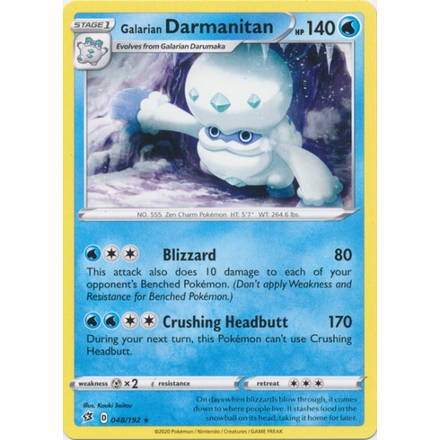 Galarian Darmanitan - 048/192 Pokemon » SWSH Rebel Clash Rare