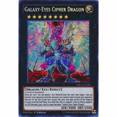 Galaxy-Eyes Cipher Dragon DRL3-EN029 Secret Rare - YuGiOh Dragons of Legend Unleashed Card