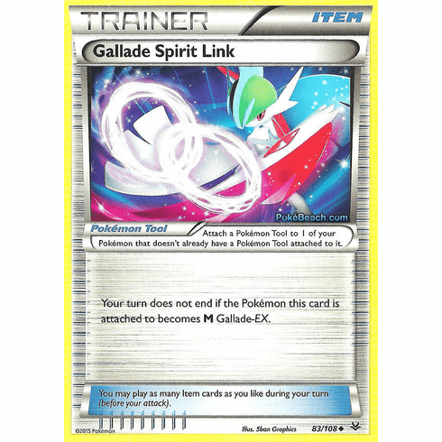 Gallade Spirit Link 83/108 Uncommon - Pokemon XY Roaring Skies Card