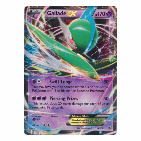 GalladeEX 34/108 Ultra Rare - Pokemon XY Roaring Skies Card