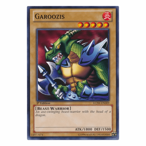 Garoozis LCJW-EN009 - YuGiOh Joey's World Common Card