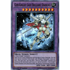 Gem-Knight Lady Brilliant Diamond CORE-EN047 Ultra Rare - YuGiOh Clash of Rebellions Card