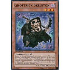 Ghostrick Skeleton LVAL-EN024 - YuGiOh Legacy Of The Valiant Common Card