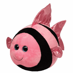 Gilly The Pink & Black Fish (Regular Size) - TY Beanie Ballz