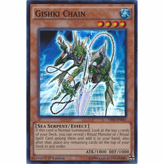 Gishki Chain THSF-EN041 - YuGiOh The Secret Forces Super Rare Card