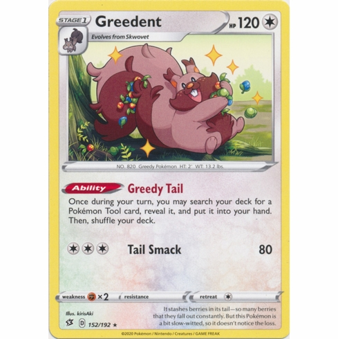 Greedent - 152/192 Pokemon » SWSH Rebel Clash Rare