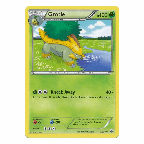 Grotle 2135 Pokemon Plasma Storm Uncommon Card