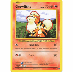 Growlithe 17/108 Common - Pokemon XY Evolutions Single Card
