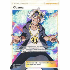 Guzma 143/147 Full Art - Pokemon Sun & Moon Burning Shadows Card
