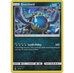 Guzzlord 80/131 Holo Rare - Pokemon Sun & Moon Forbidden Light Card