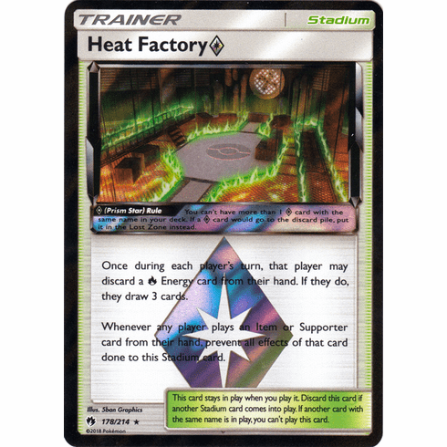Heat Factory Prism Star - 178/214 Pokemon » SM Lost Thunder HR